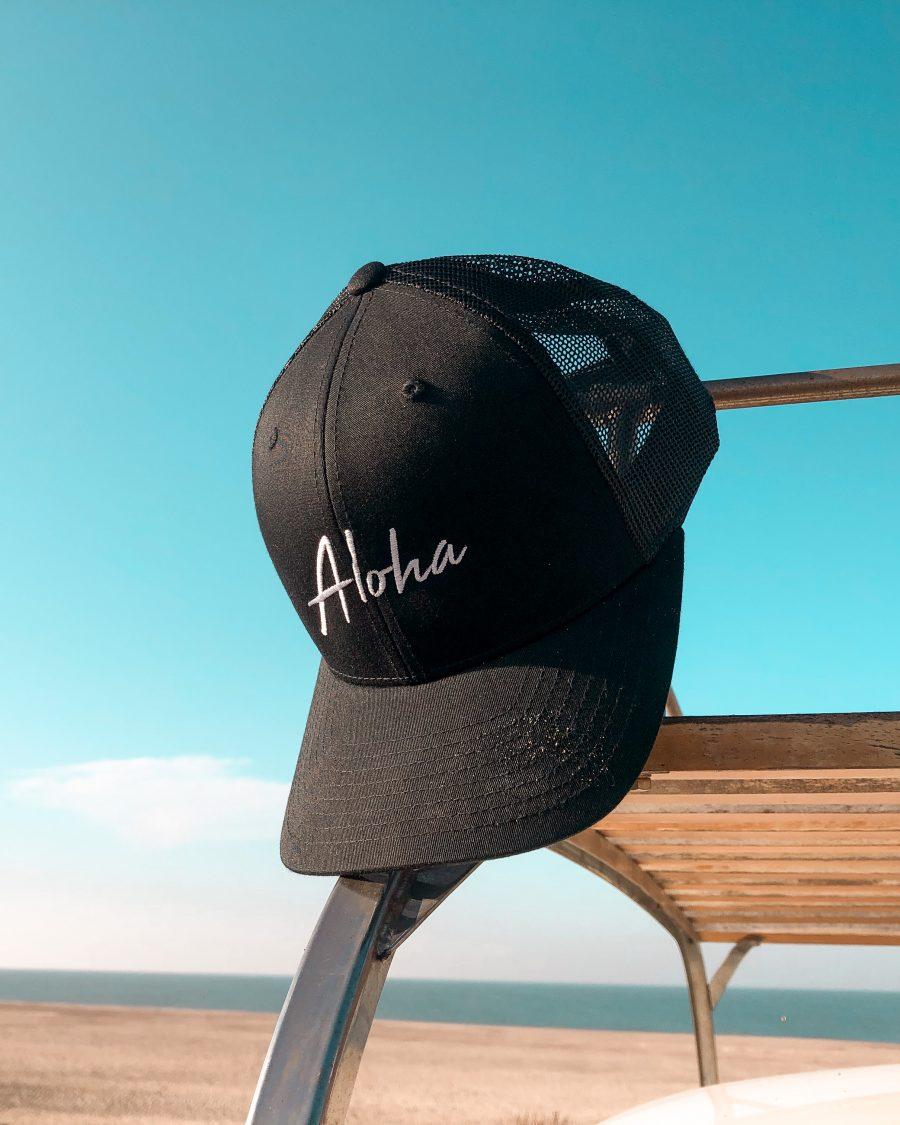 Aloha truckers cap voor naar het strand
