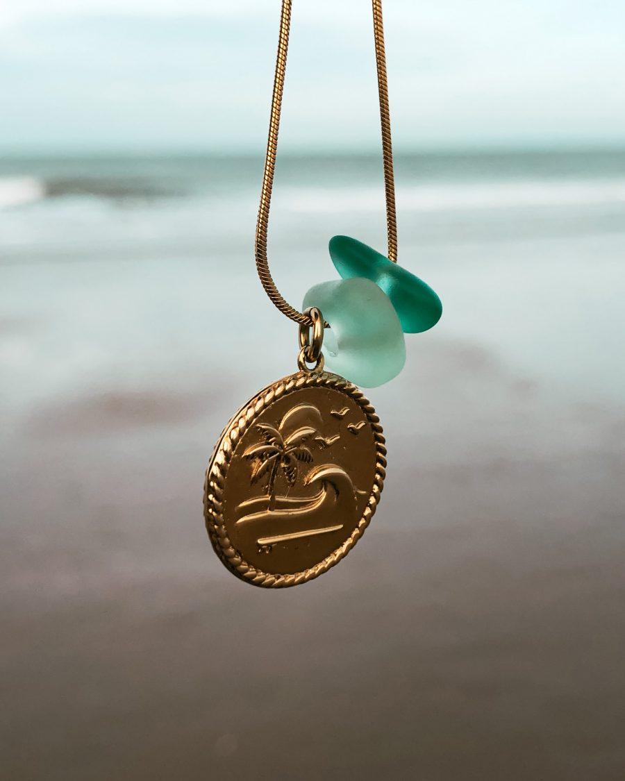 zeeglas-goud-munt-bedel-hanger