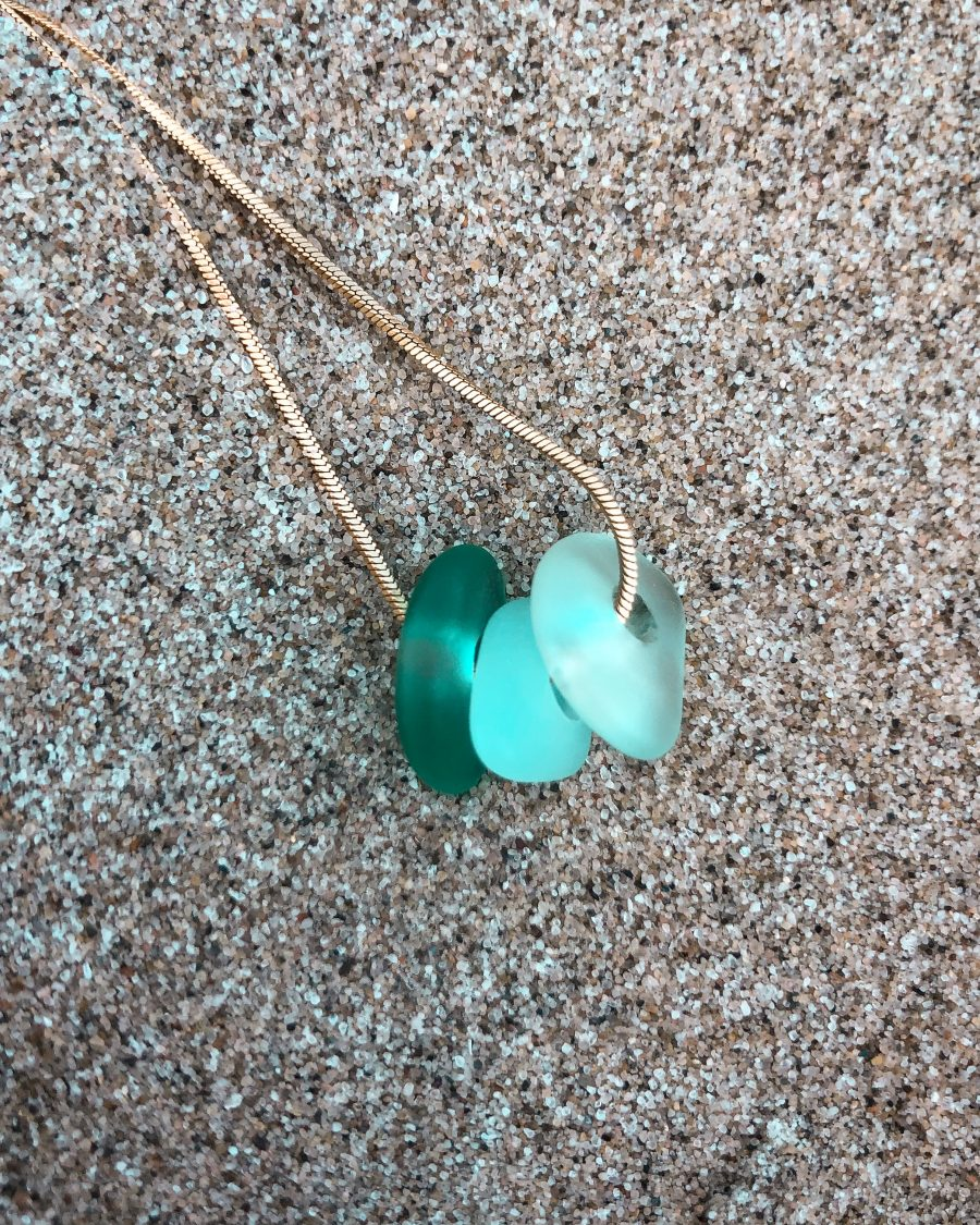 zeeglas-ketting-goud-driekleur-groen