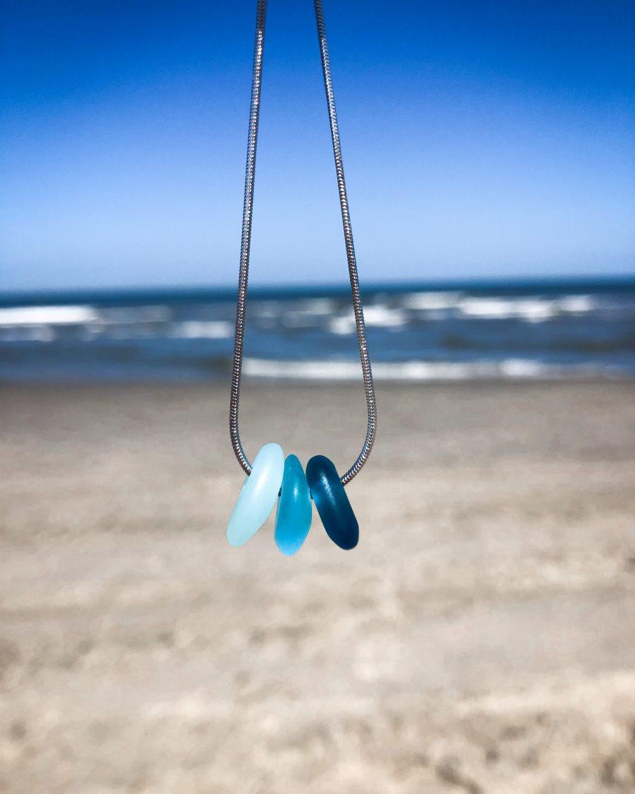 zeeglas-ketting-zilver-driekleur-blauw