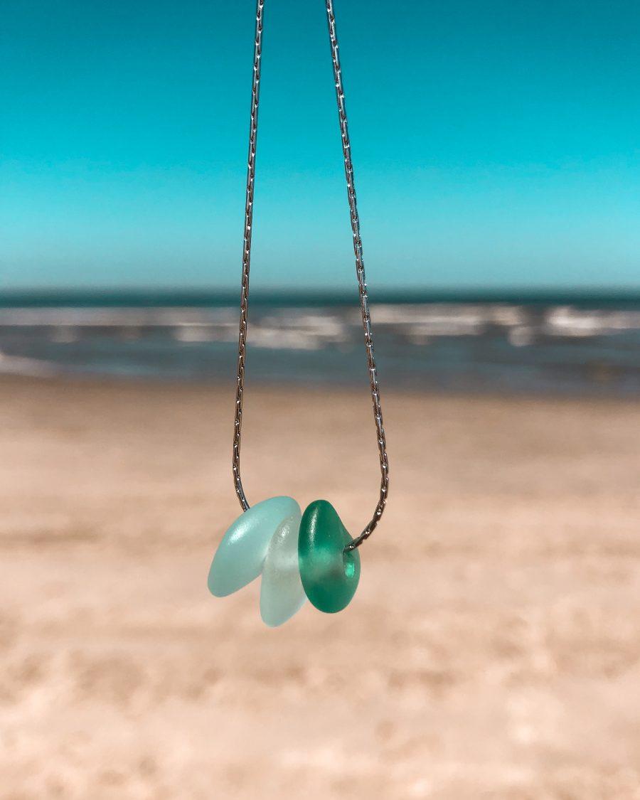 zeeglas-ketting-zilver-driekleur-groen-zee