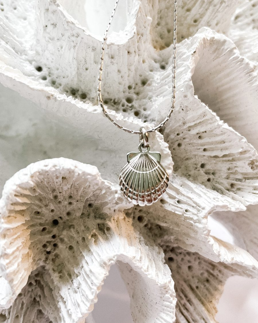 schelpketting-zilver