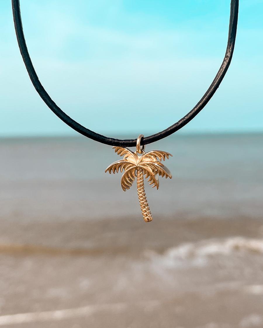 wander-ketting-palmboom-goud-zwart